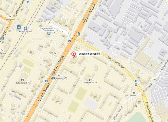 Техноприборсервис на картах Яндекса